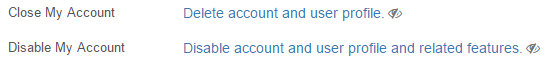 Account Deletion Control