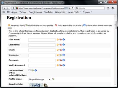 Customize registration fields