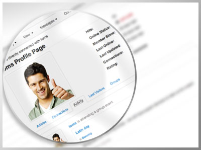 Users can easily track their connected friend activities and see who has posted on their profilebook tab.
