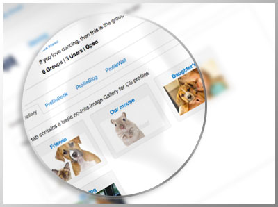 Give your users a cool, easy profile gallery for their photos and media files.