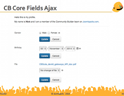 CB Core Fields Ajax