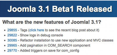Joomla 3.1 beta 1 released and we are 100% ready!