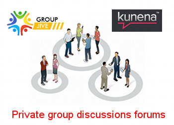 Private group discussions for GroupJive using Kunena