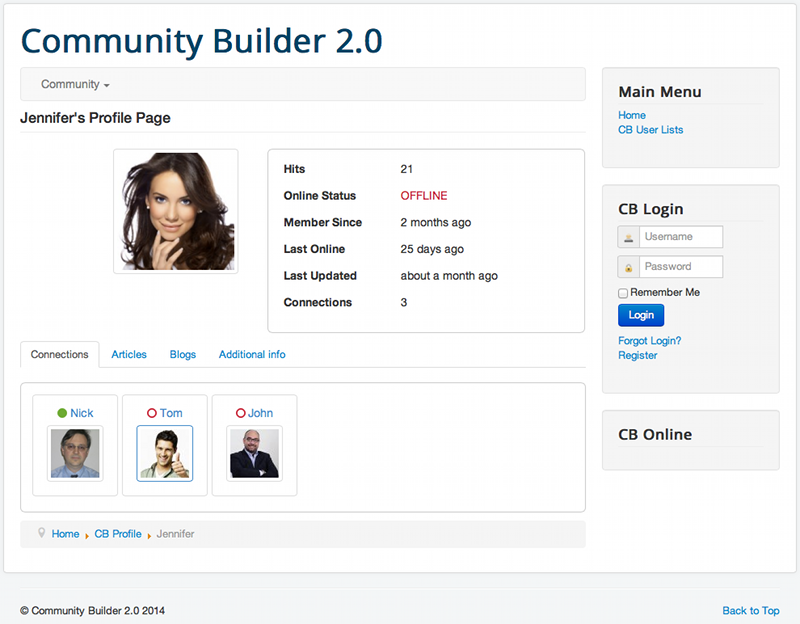 Community Builder 2 0 - CB 2 0 beta 2 released!