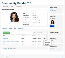 Joomla community builder dating