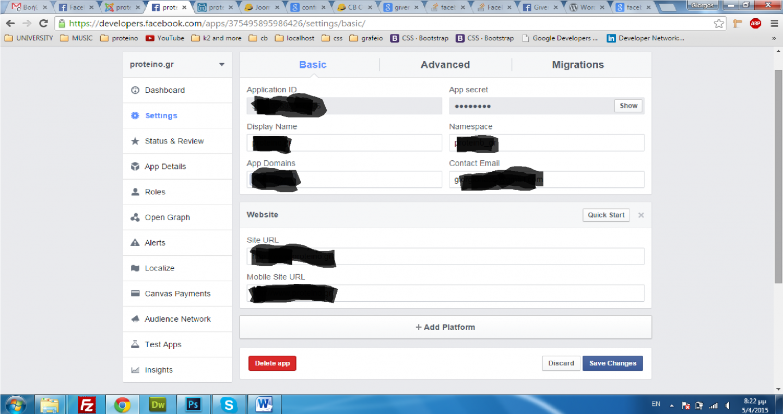 blank page with facebook login - Joomlapolis Forum